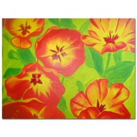 Flowerpower - schildering