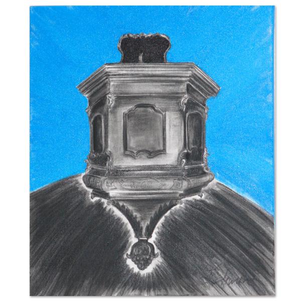 Preekstoel Oldenzijl - schildering